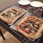 Home Made Stuffed Crust Pizza