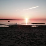 Stroomi beach at sunset in midsummer – Tallinn, Estonia